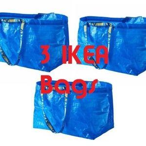 (3) IKEA-FRAKTA-BAG-Shopping-Grocery-Laundry-Store